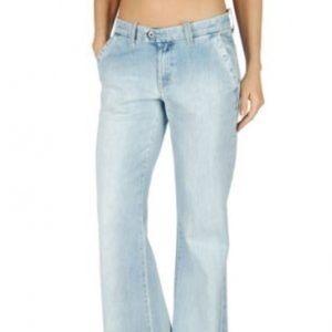 Diesel Jeans - Diesel Flairlegg Pinstripe Trouser Jeans 25x32